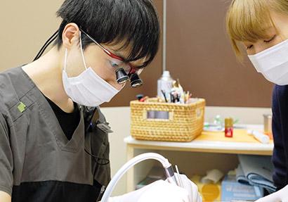 歯を削る量の少ない治療