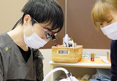 「歯を削る量の少ない/神経を残す」治療